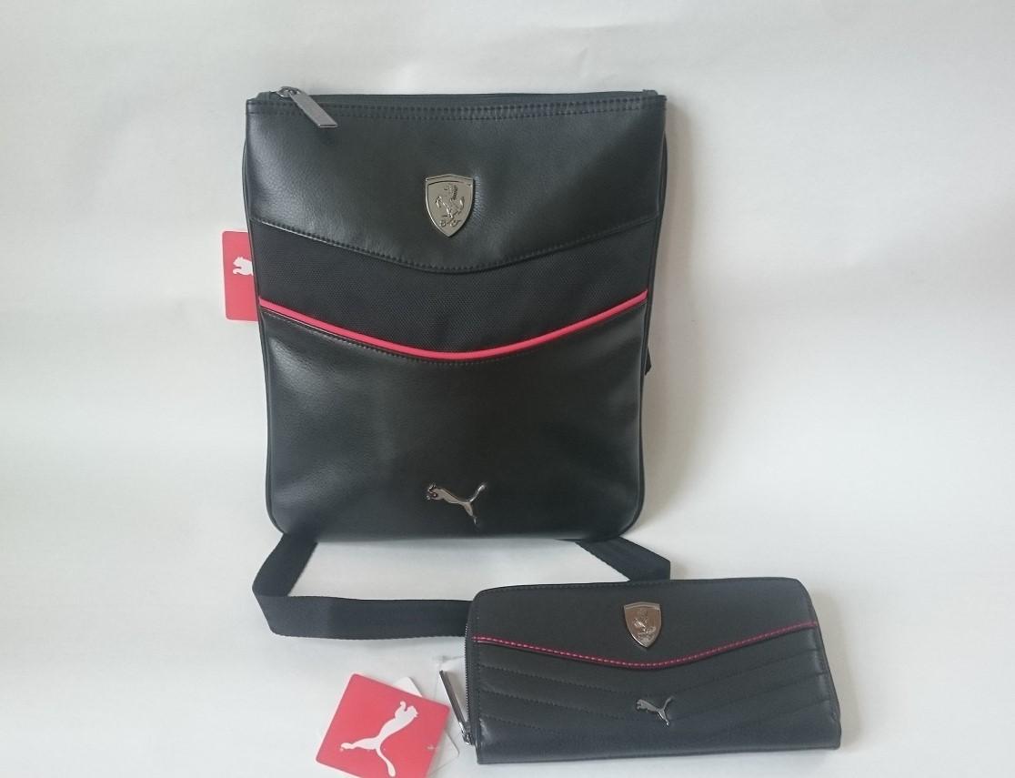 Taška + peněženka Puma Ferrari černá a6b0abe9695