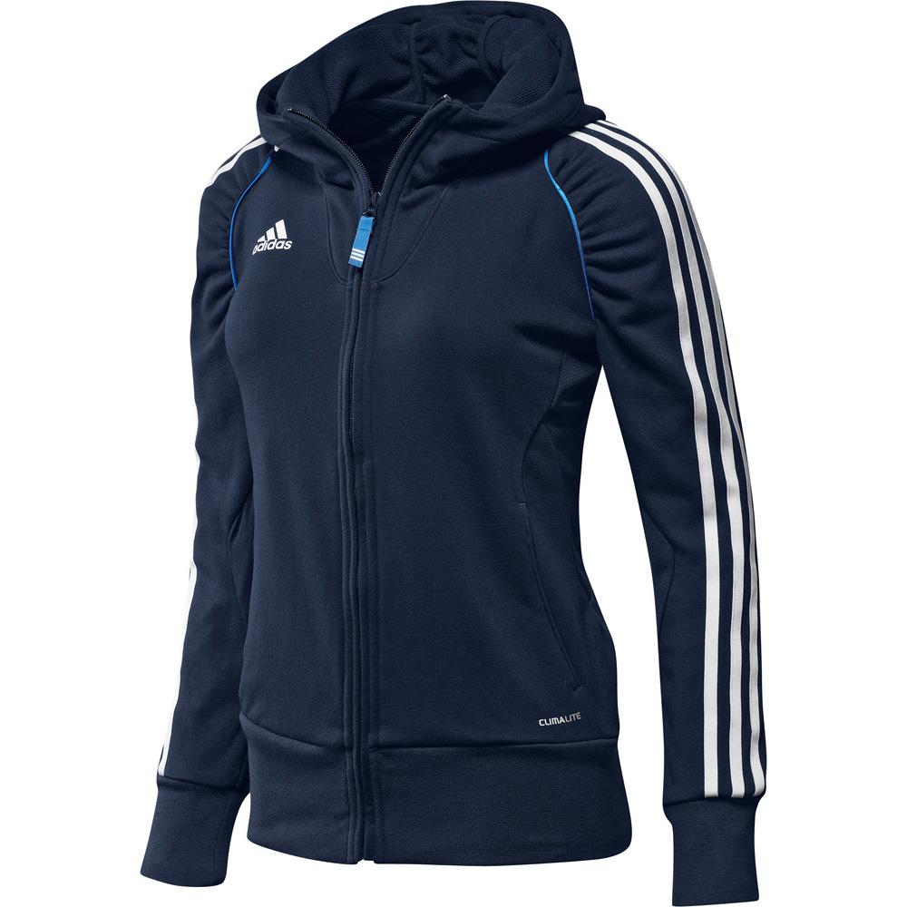 Dámská mikina Adidas s kapucí modrá d721586fb7