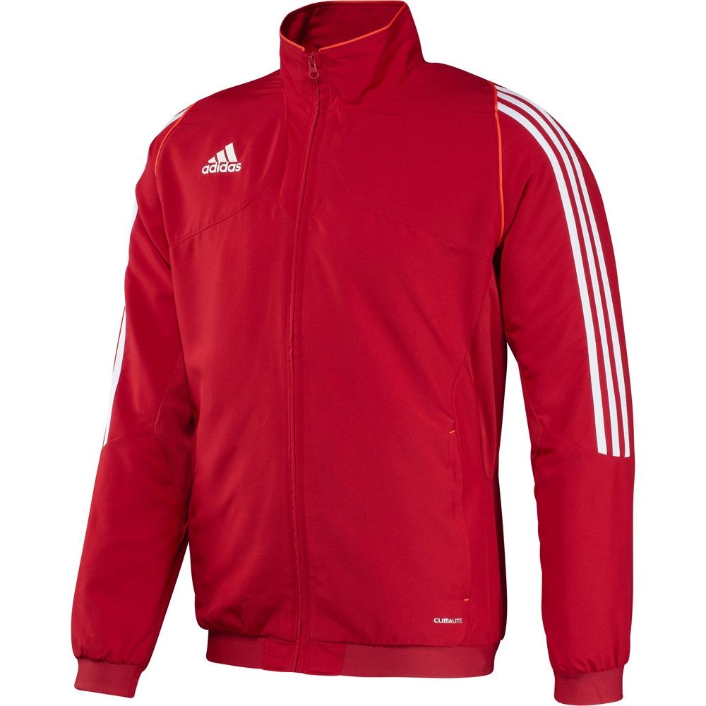 Bunda-mikina pámská Adidas T12 na zip červená c4e324180cc