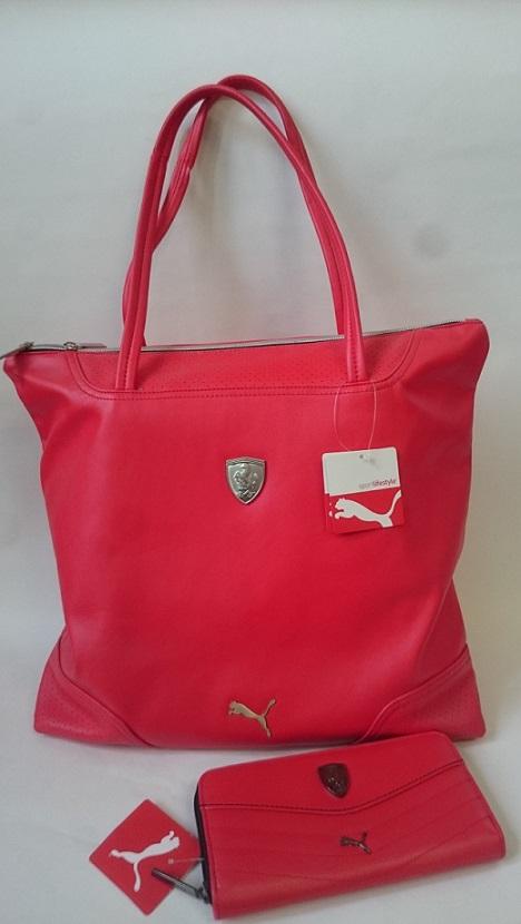 Kabelka + peněženka Puma Ferrari červená Kabelka + peněženka Puma Ferrari  červená - klikněte pro větší a0a98cb9bcd